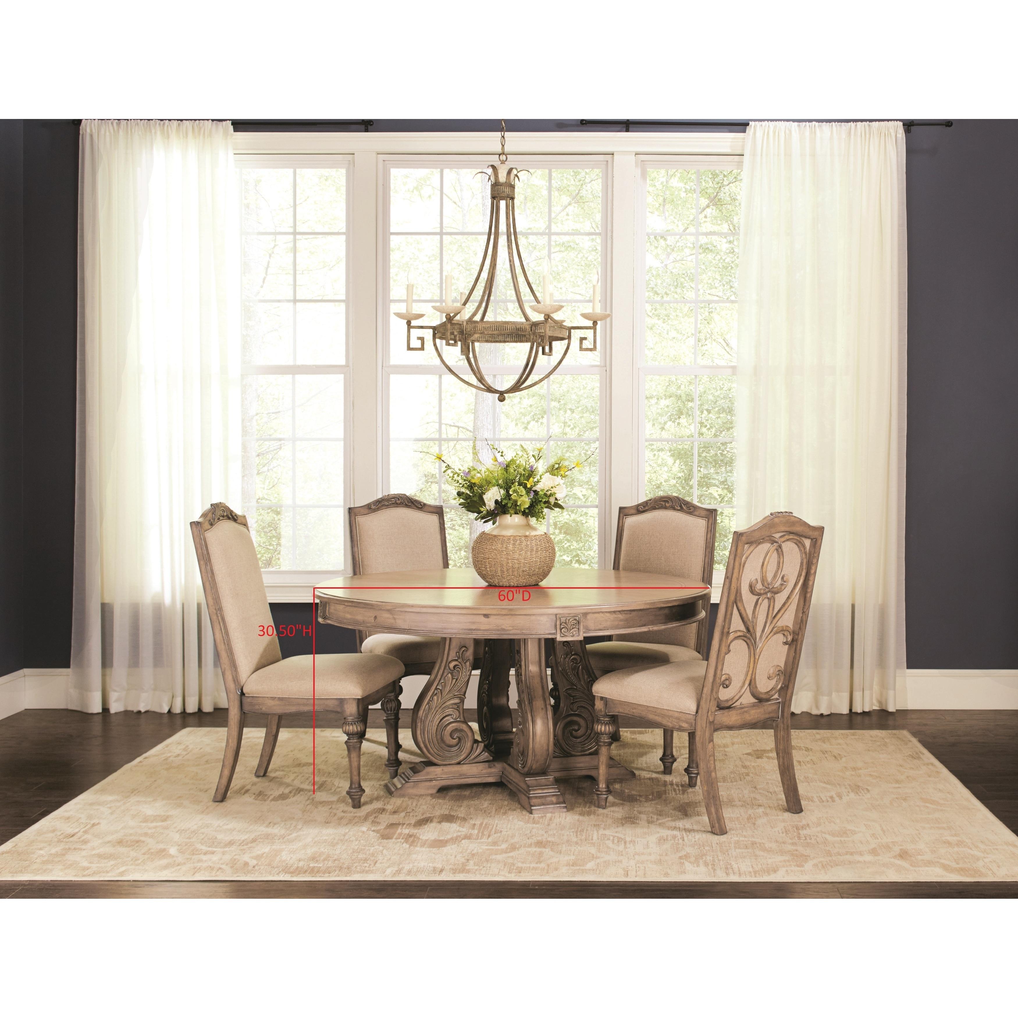 Ilana Traditional 5-piece Round Formal Dining Set