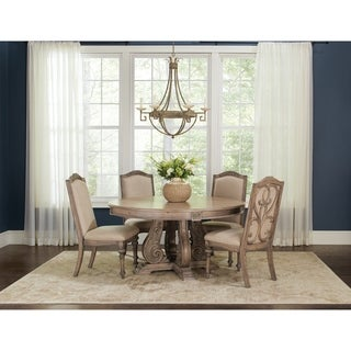 Ilana Traditional 5-piece Round Formal Dining Set