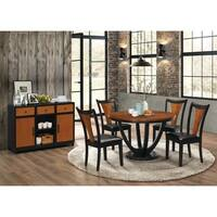 Boyer Transitional Amber and Black 5-piece Dining Set