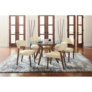 Paxton Mid-century Modern 5-piece Glass Dining Set
