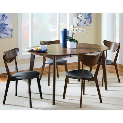 Malone Mid-century Modern 5-piece Round Dining Set