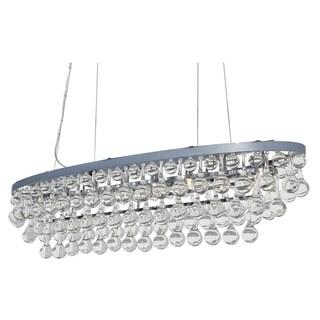 Celeste Oval Glass Drop Crystal Chandelier, Chrome