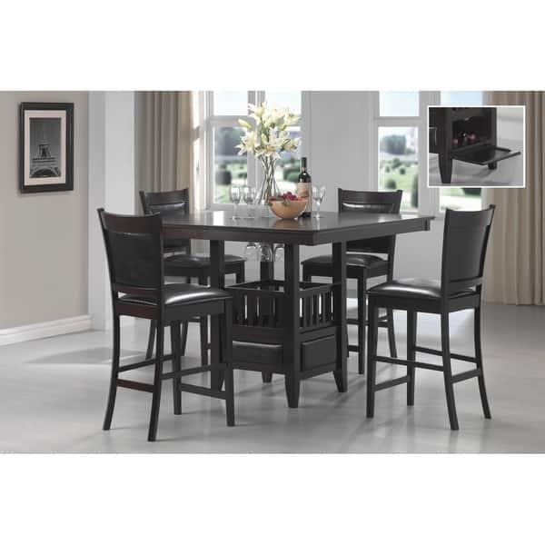 Jaden Transitional Cuccino 5 Piece Counter Height Dining Set