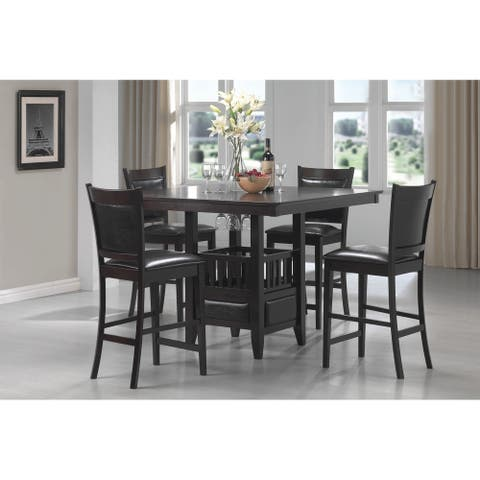 Jaden Transitional Cappuccino 5-piece Counter-height Dining Set