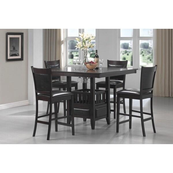 Jaden Transitional Cappuccino 5-piece Counter-height Dining Set