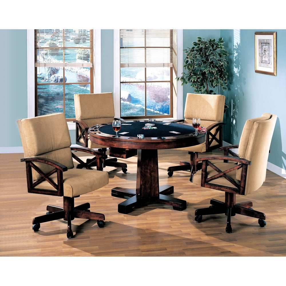 Marietta Casual Tobacco 5 Piece Game Table and 4-chair Dining Set
