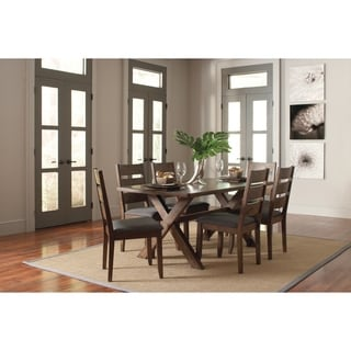Alston Rustic 5-piece Trestle Dining Set ( one Table and four chairs)