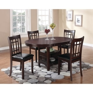 The Gray Barn Bracken Hill Transitional Espresso 5-piece Dining Set