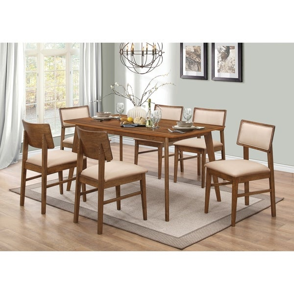 Bon Sasha Retro Golden Brown 5 Piece Dining Set