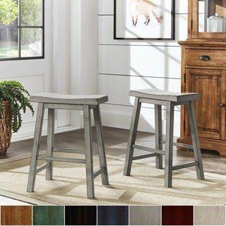 Salvador II Saddle Seat 24-inch Counter Height Backless Stools (Set of 2) by iNSPIRE Q Classic (More options available)