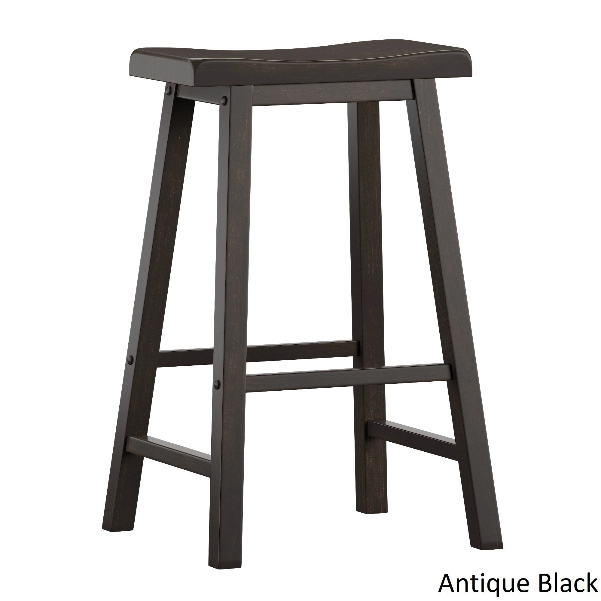 Salvador Ii Saddle Seat 29 Inch Bar Height Backless Stools Set Of 2 By Inspire Q Classic On Sale Overstock 21786004