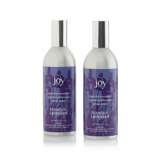 Joy Mangano Forever Fragrant Set of 2 Room Sprays 2oz Tranquil Lavendar Chamomile - Purple