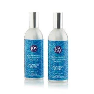 Joy Mangano Forever Fragrant Set of 2 Room Sprays 2oz Oceanside Breeze - Blue