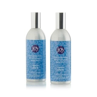Joy Mangano Forever Fragrant Set of 2 Room Sprays 2oz Fresh Linen - Blue