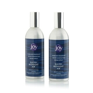 Joy Mangano Forever Fragrant Set of 2 Room Sprays 2oz Sultry Midnight Air - Blue