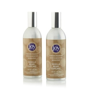 Joy Mangano Forever Fragrant Set of 2 Room Sprays 2oz Vanilla Bean Cupcake - Silver