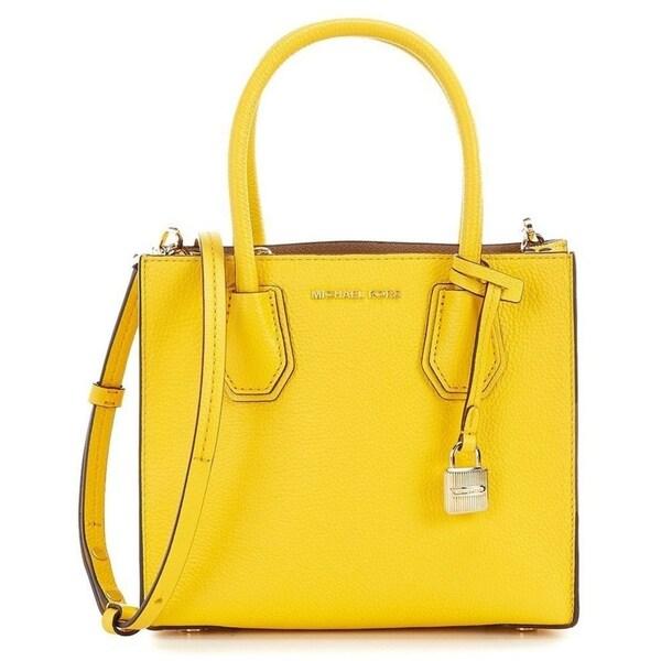 605dcddc85b9a6 Shop Michael Kors Mercer Medium Leather Sunflower Messenger Bag - M ...
