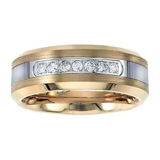 Tungsten Carbide Diamond Mens Wedding Band .20CTW (H-I I2)