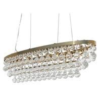 Celeste Oval Glass Drop Crystal Chandelier