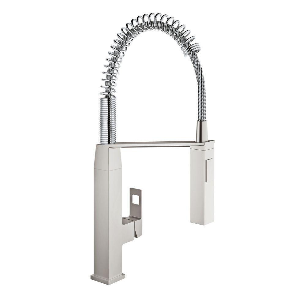 Shop Grohe Eurocube Single Handle Kitchen Faucet Overstock 21791704