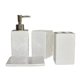 White bathroom accessories for less overstock - Modern bathroom accessories sets ...