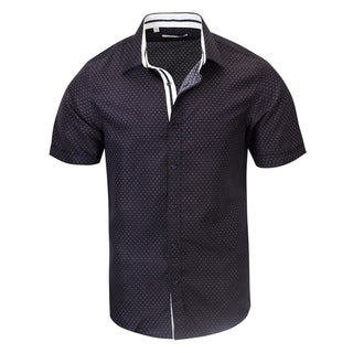 Navy Printed Modern-Fit Shirt (5 options available)