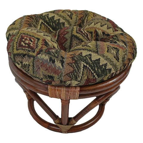 Blazing Needles 18-inch Tapestry Footstool Cushion (Stool is not included)