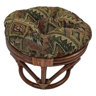 Blazing Needles 18-inch Tapestry Footstool Cushion