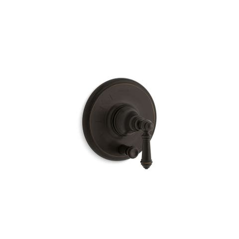 Kohler Artifacts Rite-Temp Pressure-Balancing Valve Trim with Push-Button Diverter and Lever Handle Polished Chrome
