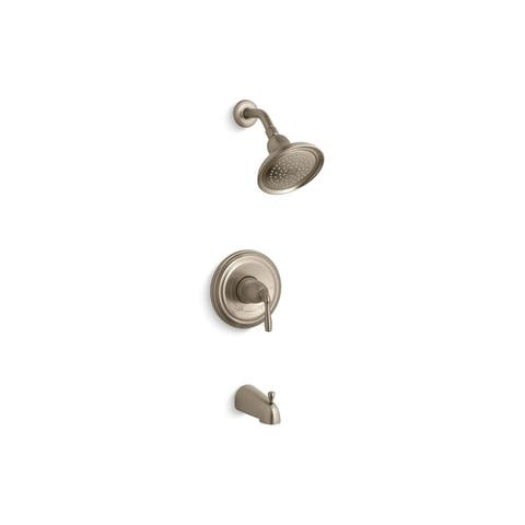 Kohler Devonshire Rite-Temp Bath and Shower Valve Trim with Lever Handle Slip-Fit Spout and 2.5 GPM Showerhead Oil-Rubbed Bronze