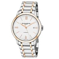 Baume & Mercier Men's MO 'Classima' Silver Dial Stainless Steel/Rose Gold Swiss Automatic Watch