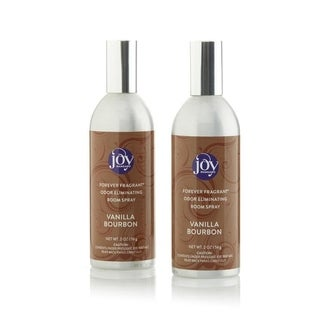 Joy Mangano Forever Fragrant Set of 2 Room Sprays 2oz Vanilla Bourbon - Silver