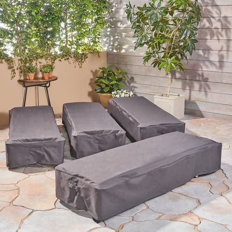 Shield Outdoor Chaise Lounge Cover (Set of 4) by Christopher Knight Home