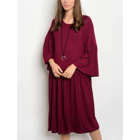 JED Women's Relax Fit Knee Length Knit Dress