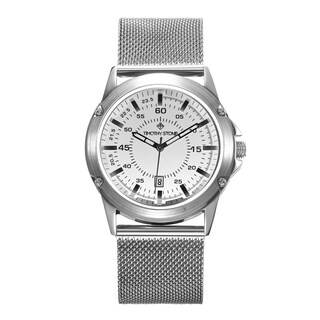 Men's 'Norse' Quartz Stainless Steel Mesh Bracelet Watch 42mm by Timothy Stone (Option: Silver-Tone)