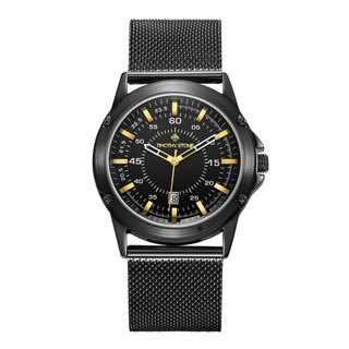 Men's 'Norse' Quartz Stainless Steel Mesh Bracelet Watch 42mm by Timothy Stone