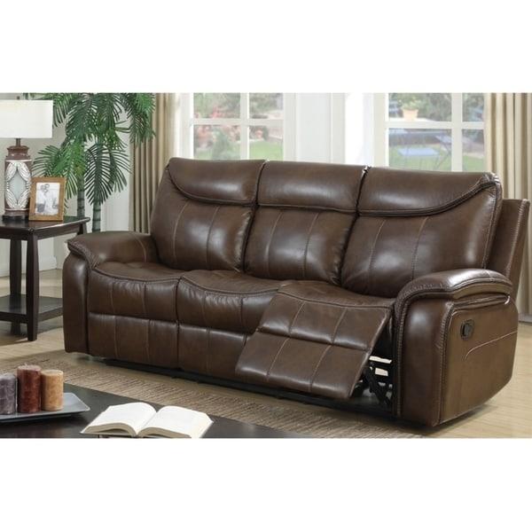 Air O Sofa: Shop Altoona Leather Air Fabric Reclining Sofa