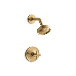Kohler K-TS14422-3 Purist Rite-Temp Shower Valve Trim With Cross Handle And 2.5 Gpm Showerhead (2 options available)