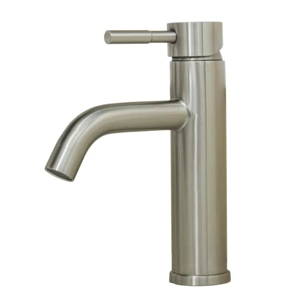 Wells Sinkware 308002 Alonza 8-inch All Stainless Steel Lead-Free Single-Handle Vanity Faucet Designed in Italy