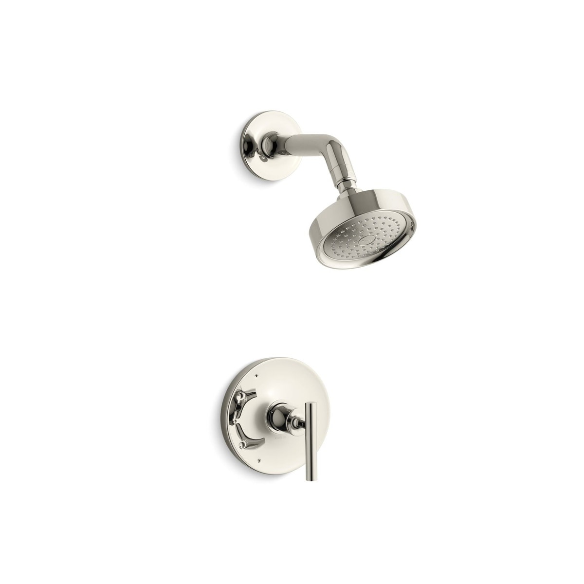 Kohler K Ts14422 4 Purist Rite Temp Shower Valve Trim With Lever Handle And 2 5 Gpm Showerhead