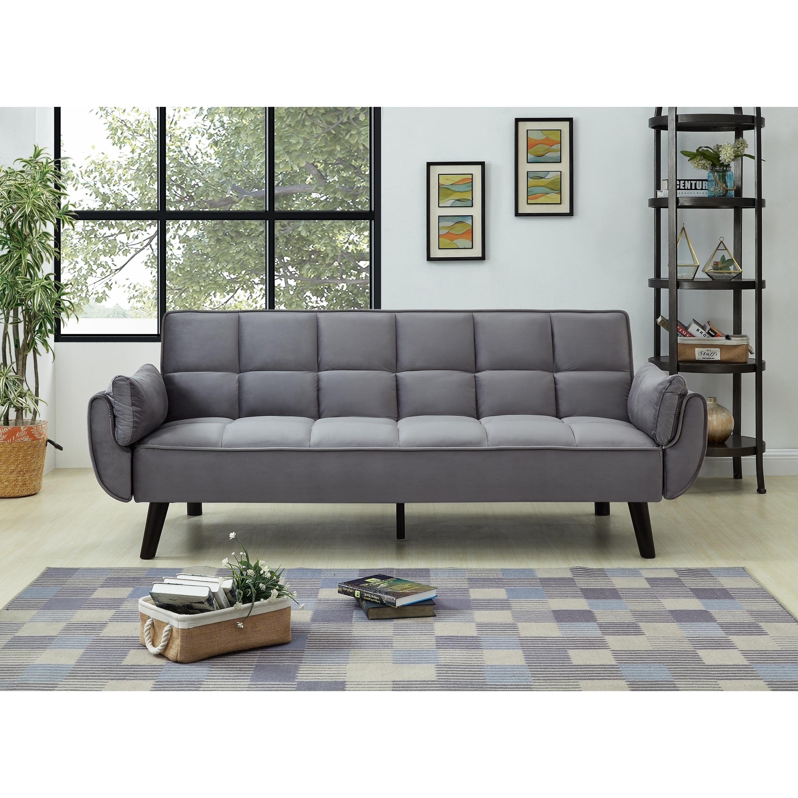 Best quality furniture velvet tufted sofa bed