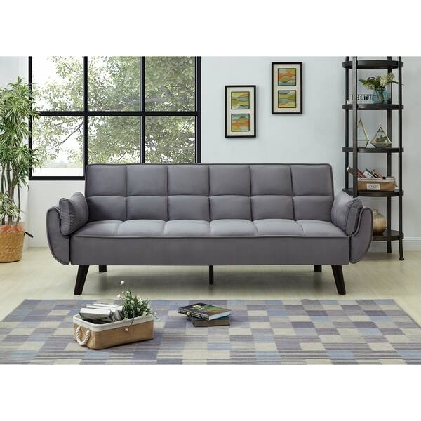 Shop Best Quality Furniture Velvet Tufted Sofa Bed - Free ...