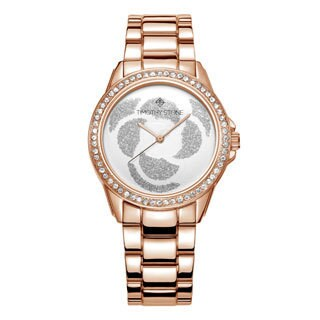Women's 'Katy' Crystal Accented Rose Petal Bracelet Watch 36mm by Timothy Stone