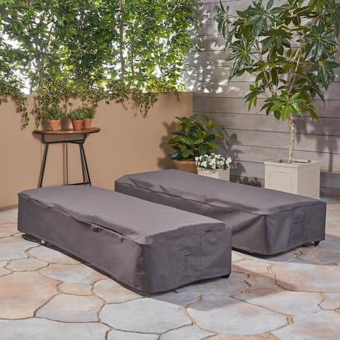 Shield Outdoor Chaise Lounge Cover (Set of 2) by Christopher Knight Home