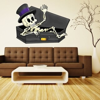 "Funny Skeleton Haloween Full Color Wall Decal Sticker K-197 FRST Size 33""x40"""
