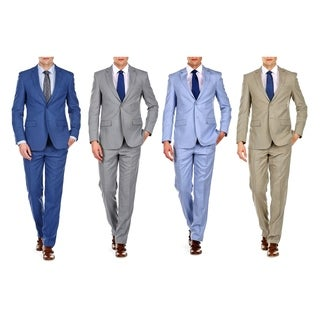 Braveman Slim Fit Sharkskin 2PC Suit