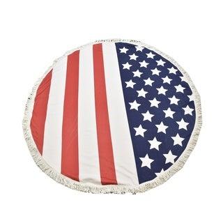 Le Nom American Flag Beach Towel