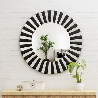 Halie Glam Wall Mirror by Christopher Knight Home - Black