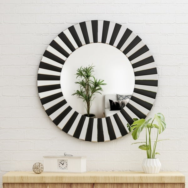 Halie Glam Wall Mirror by Christopher Knight Home - Black - N/A