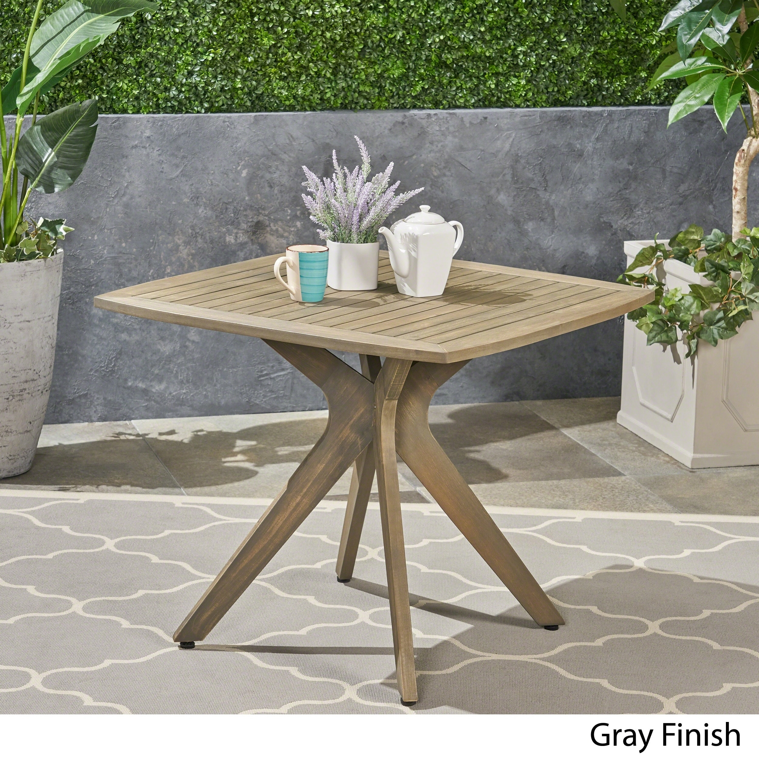 Stamford Outdoor Square Dining Table With X Base